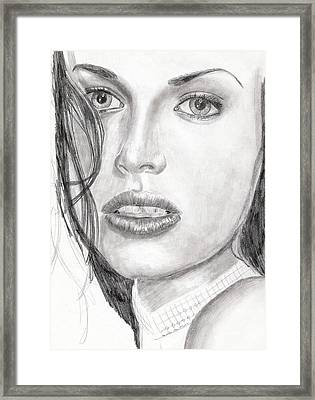 Kim Framed Print by Michael McKenzie