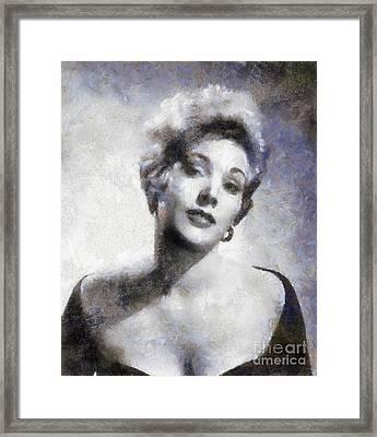 Kim Novak By Sarah Kirk Framed Print