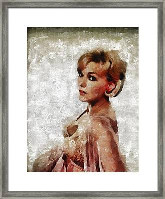 Kim Novak Hollywood Actress Framed Print by Mary Bassett