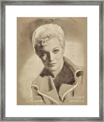 Kim Novak, Vintage Actress By John Springfield Framed Print