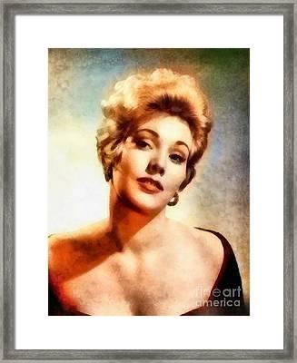 Kim Novak, Vintage Hollywood Actress Framed Print