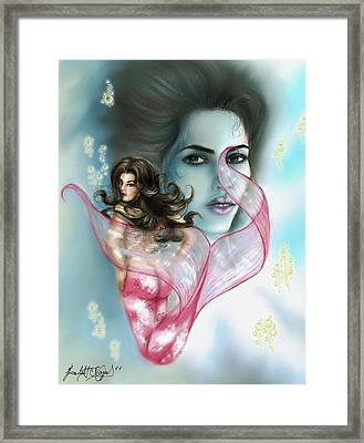 Kim The Mermaid Framed Print by Scarlett Royal