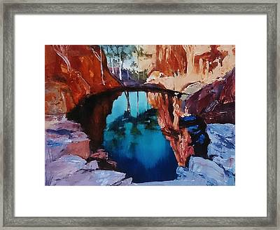Kimberley Ponds Framed Print by Kathy  Karas