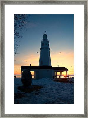 Kimberly Pointe Lighthouse Framed Print by Joel Witmeyer