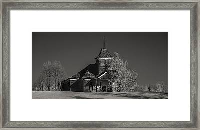 Kimberly School House Black And White Framed Print by Paul Freidlund