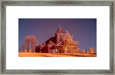 Kimberly School House Infrared False Color Framed Print by Paul Freidlund