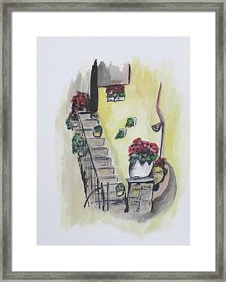 Kimberly's Castellabate Flowers Framed Print