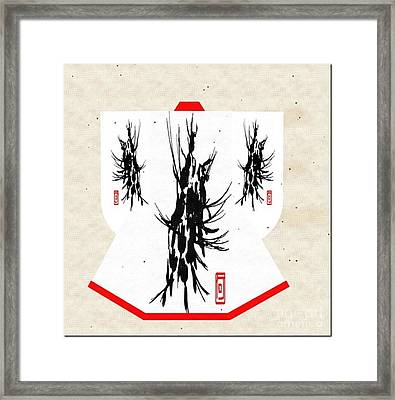 Kimono Abstract Framed Print