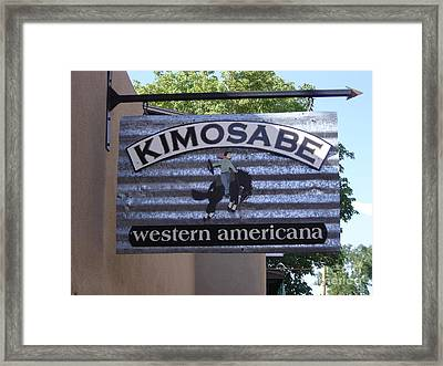 Kimosabe Framed Print by Mary Rogers
