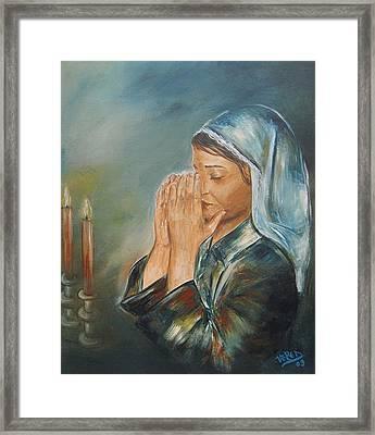 Kinberlys Blessing Framed Print by Vered Thalmeier