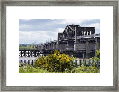 Framed Print featuring the photograph Kincardine Bridge by Jeremy Lavender Photography