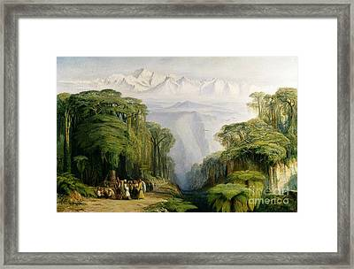 Kinchinjunga From Darjeeling Framed Print by Edward Lear