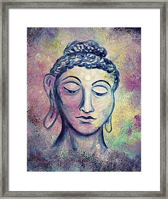 Kind Buddha Framed Print by Laura Iverson