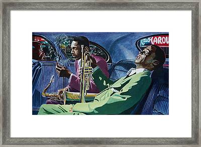 Kind Of Blue   - Miles Davis And John Coltrane Framed Print by Jo King