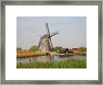 Kinderdijk Classic Framed Print