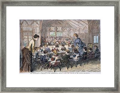 Kindergarten Cottage, 1876 Framed Print by Granger