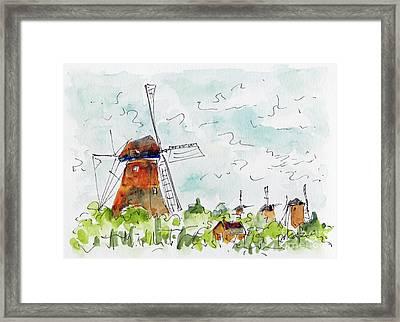 Kindersdijk Netherlands Framed Print