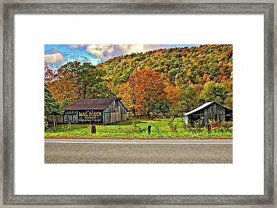 Kindred Barns Framed Print