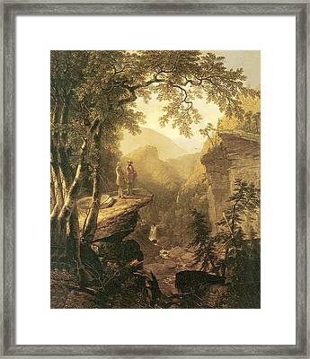 Kindred Spirits Framed Print by Asher B Durand