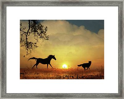 Kindred Spirits Framed Print by Stephanie Laird