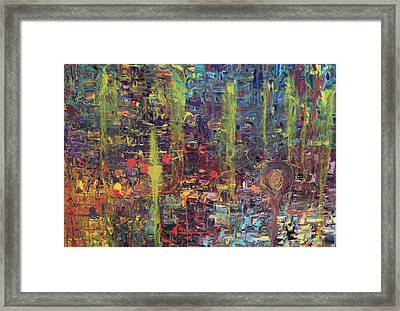 Kinetic Energy Framed Print by Maria Isabel Storniolo
