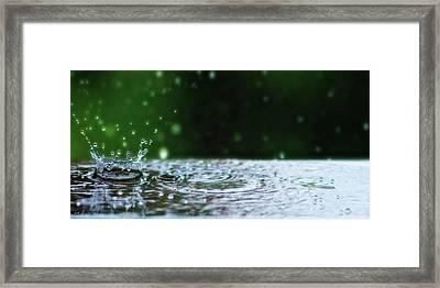 Kinetic Raindrops Framed Print by Lisa Knechtel
