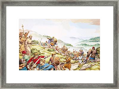 King Aethelfrith Of Northumbria Framed Print by Pat Nicolle