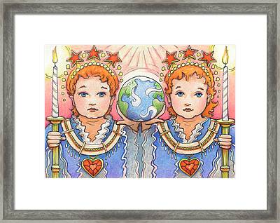 King And Queen Of A Future World Framed Print