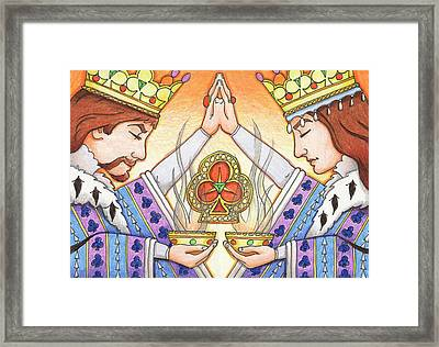 King And Queen Of Clubs Framed Print by Amy S Turner