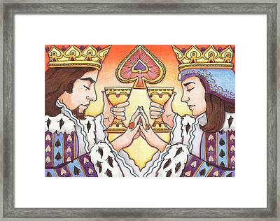 King And Queen Of Spades Framed Print by Amy S Turner