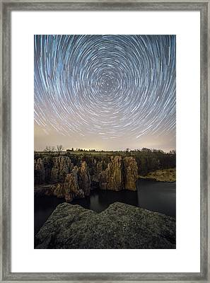King And Queen Star Trails Framed Print