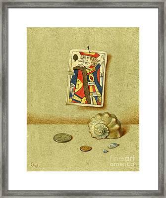 King And Seashell Framed Print