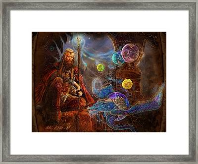 King Arthur's Merlin Framed Print by Steve Roberts