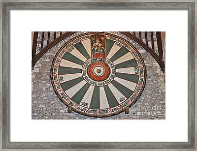 King Arthur's Round Table Winchester Framed Print