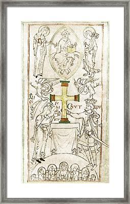 King Canute Framed Print