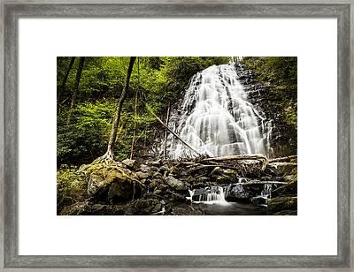 Crabtree Falls - Blue Ridge Parkway North Carolina Framed Print