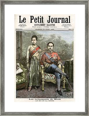 Framed Print featuring the drawing King Chulalongkorn by Granger