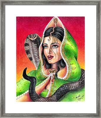King Cobra Framed Print by Scarlett Royal