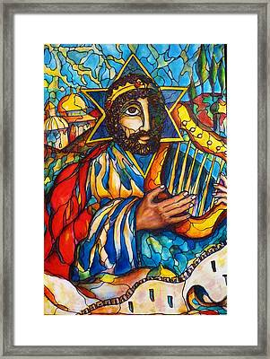 Framed Print featuring the painting King David by Rae Chichilnitsky