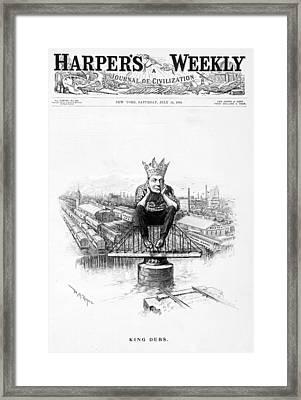 King Debs. Caricature Of Eugene Debs Framed Print