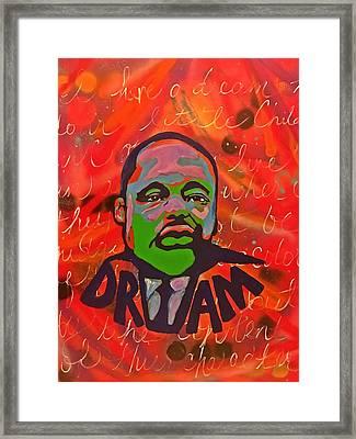 King Dreaming Framed Print by Miriam Moran