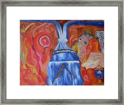 King Falls Framed Print by Joseph  Arico