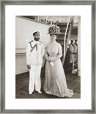 King George V And Queen Mary In 1911 On Framed Print