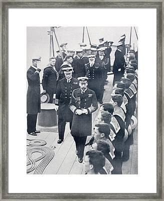 King George V Of England Reviewing The Framed Print by Vintage Design Pics