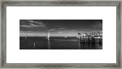 King Harbor By Mike-hope Framed Print