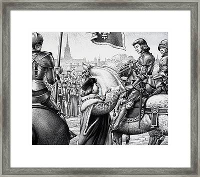 King Henry Vii Framed Print by Pat Nicolle