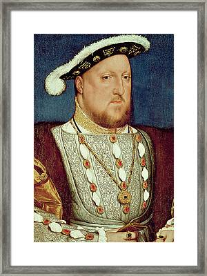 King Henry Viii  Framed Print by Hans Holbein