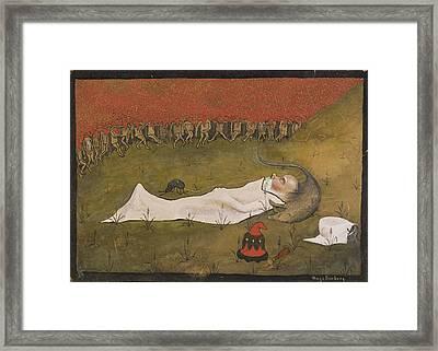 King Hobgoblin Sleeping Framed Print by MotionAge DesignsHugo Simberg