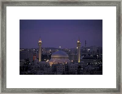 King Hussein Mosque In Amman, Jordan Framed Print