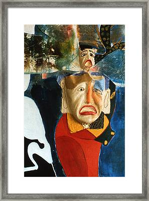 Framed Print featuring the painting King In Peace by Sima Amid Wewetzer